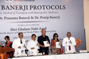 Banerji`s launching their new book 'THE BANERJI PROTOCOLS – A New Method of Treatment with Homeopathic Medicines'