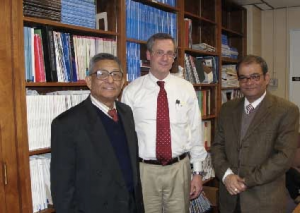 Banerji`s with Dr. Donald Campbell at St. Luke's Hospital, Kansas