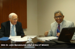 Dr. John Mendelsohn, chief of the UT MDACC