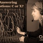Answering Questions: X or C